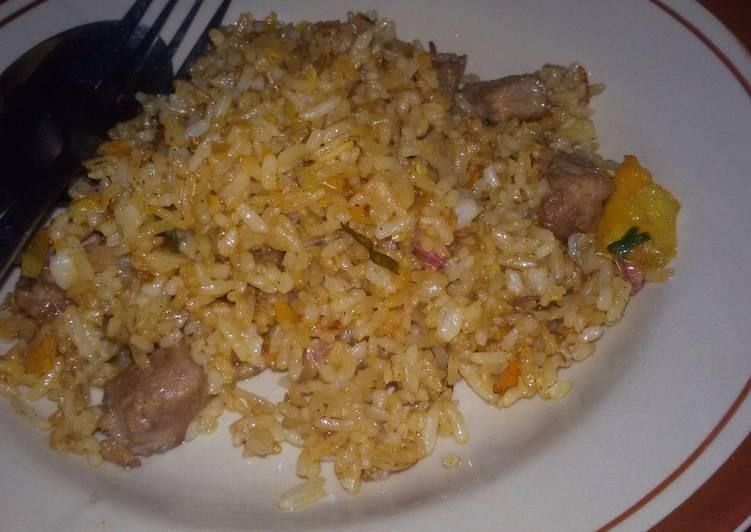 Resep mengolah Nasi goreng kambing ala jawa yang menggugah selera