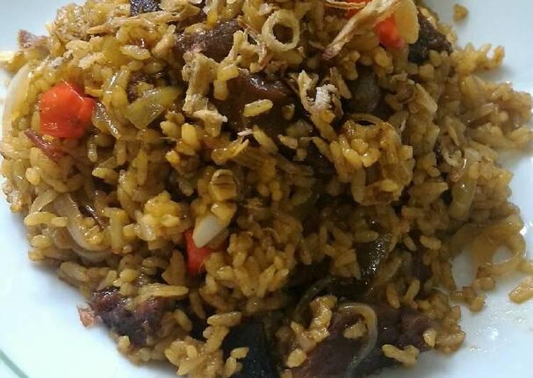Cara Mudah memasak Nasi goreng kambing simpel
