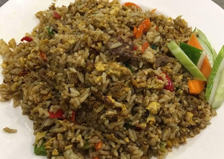Resep mengolah Nasi Goreng Kambing Istimewa yang menggugah selera