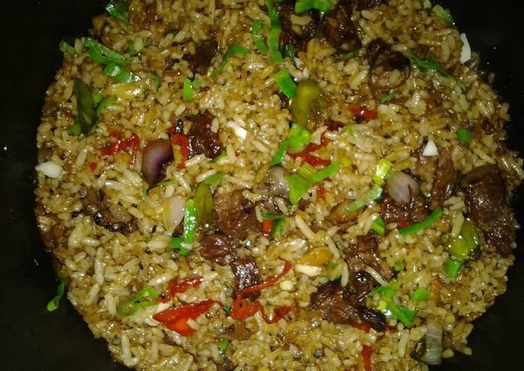 Resep memasak Nasi goreng sate kambing istimewa