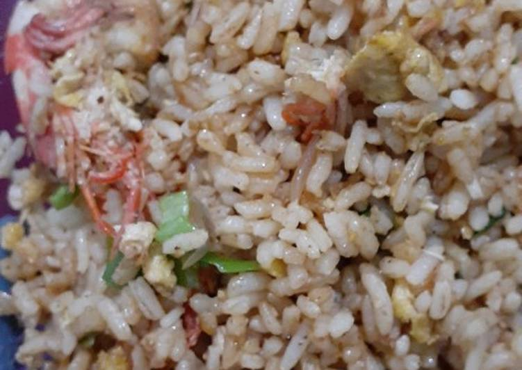 Resep: Nasi goreng kambing +udang sedap