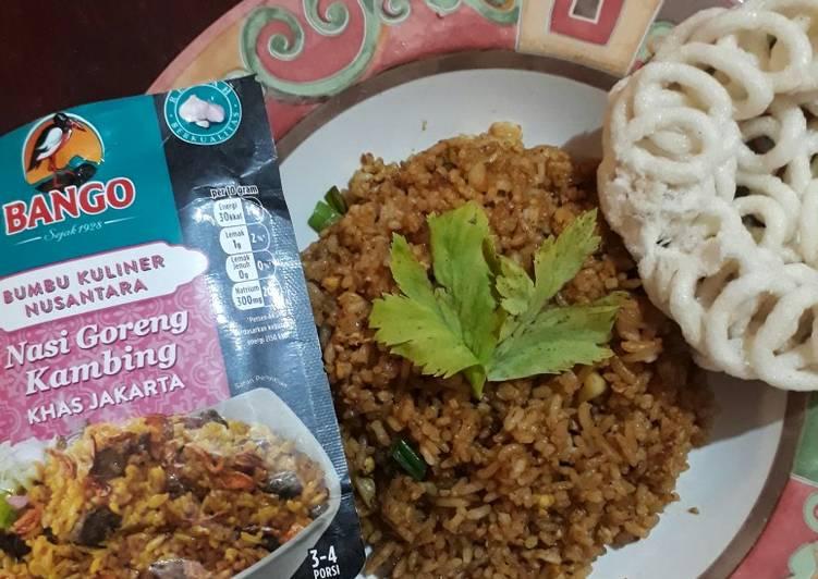 Resep: Nasi goreng kambing bumbu instan bango lezat