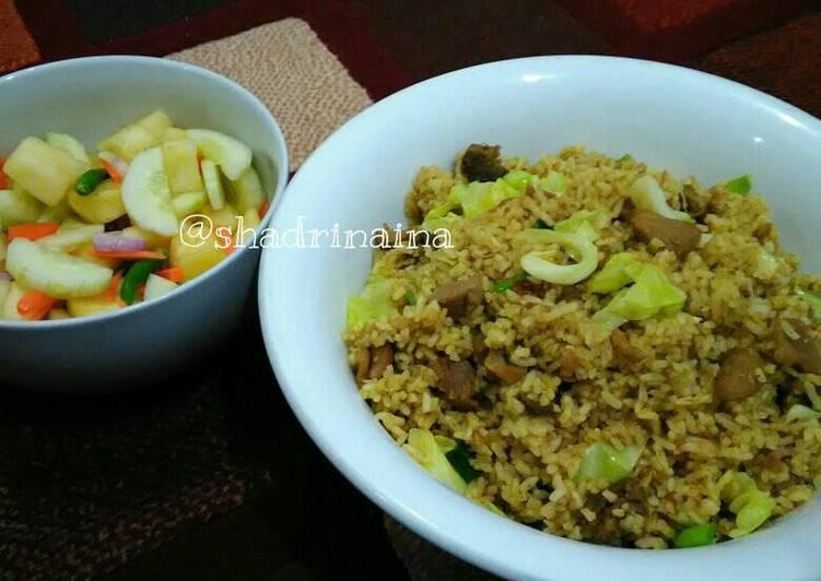 Resep: Nasi goreng kambing & acar timun nanas wortel