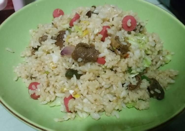 Resep memasak Nasi goreng kencur kambing