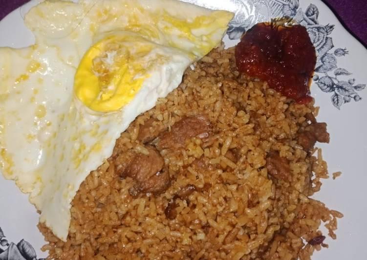Resep: Nasi goreng kambing rempah enak