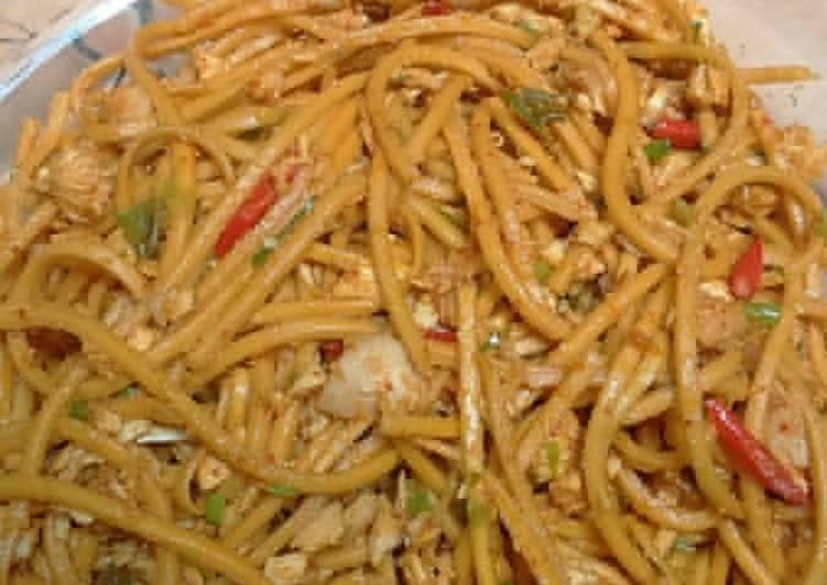 Resep: Mie Gomak goreng alias Spaghetti Tapanuli Utara sedap
