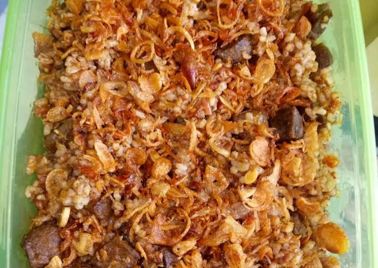 Resep: Nasi goreng kambing Arabian taste enak