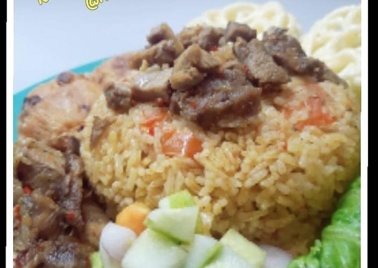 Cara memasak Nasi kebuli daging sapi enak