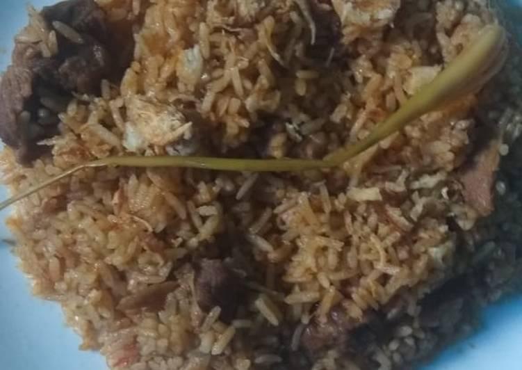 Resep: Nasi kebuli daging sapi sedap