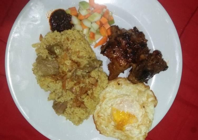 Cara mengolah Nasi kebuli simple rice cooker lezat