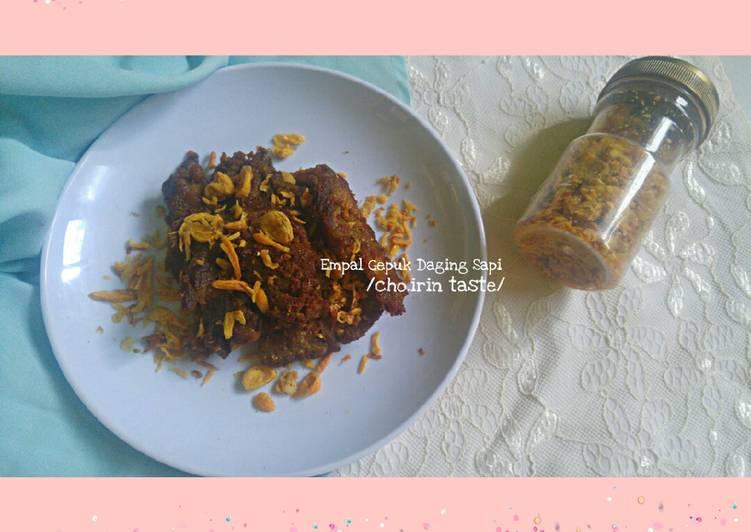 Resep: Empal Gepuk Daging Sapi yang bikin ketagihan