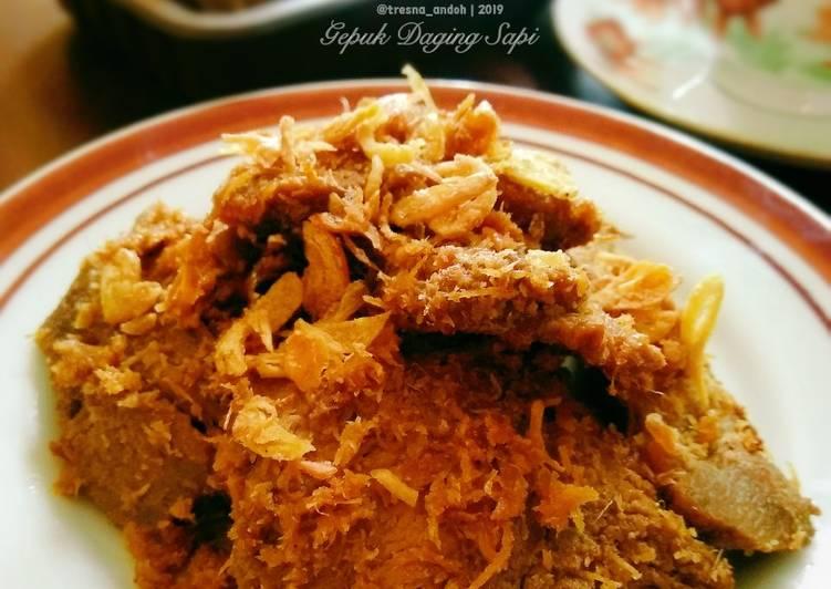 Resep: Gepuk Daging Sapi ala resto