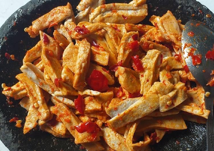 Cara memasak Karedok basreng endolita yang bikin ketagihan