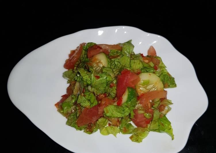 Cara memasak Karedok selada n timun yang bikin ketagihan