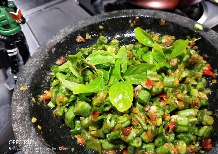 Resep membuat 🍃Karedok kacang panjang sunda (pencok) 😋 yang menggugah selera