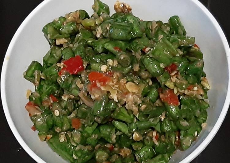 Cara Mudah memasak Sambal (karedok) Kacang Panjang istimewa