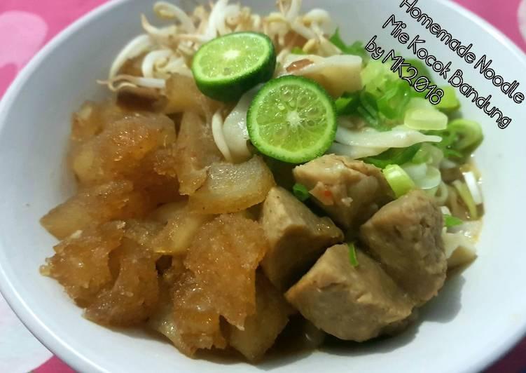 Homemade Noodle (Mie Kocok Bandung Kuah Segar)