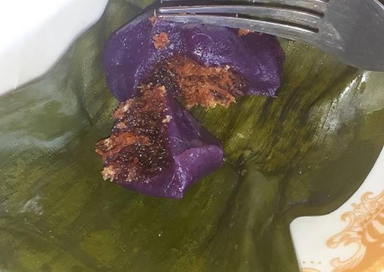 Cara memasak Ombus-ombus ubi ungu (kue bugis ubi ungu) sedap