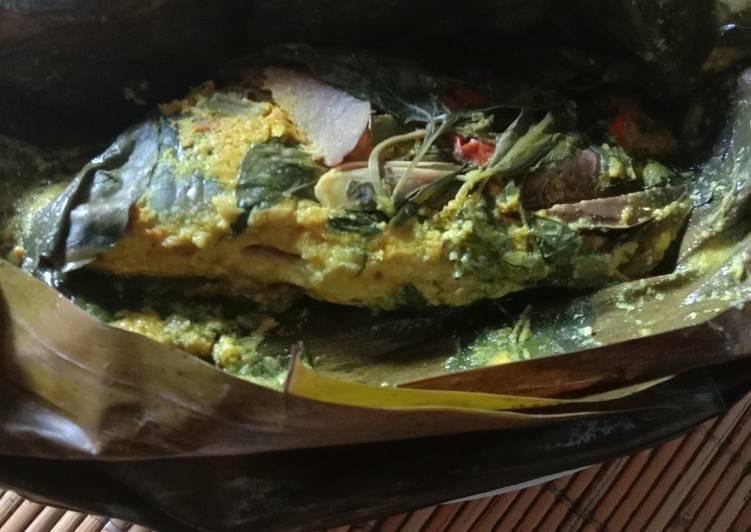 Resep: Pepes ikan mas presto bdg enak
