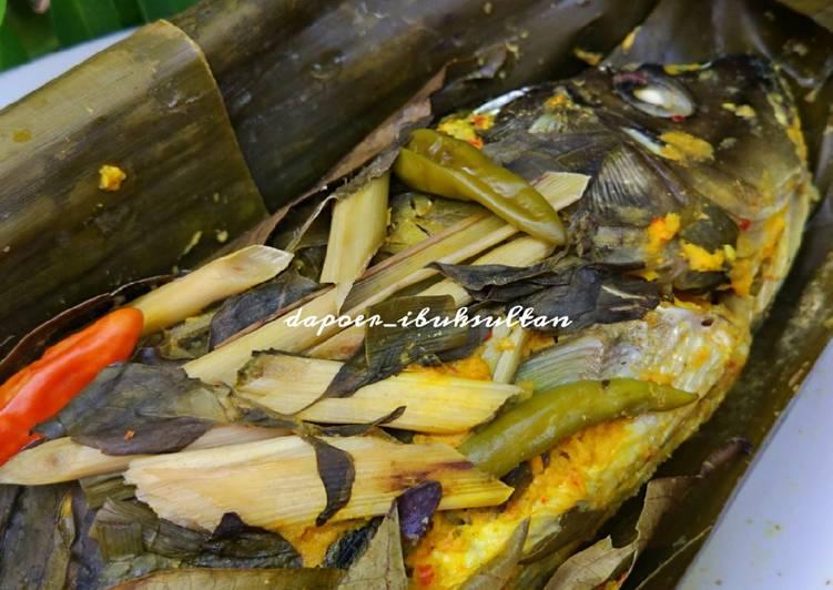 Resep membuat Pepes ikan mas daun kemangi enak