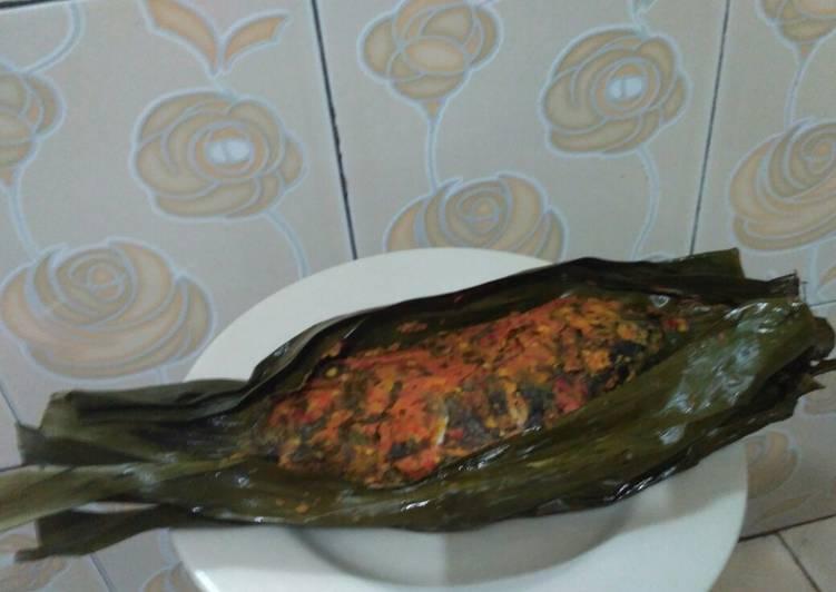 Resep: Pepes Ikan Mas - Daun Kemangi yang menggugah selera