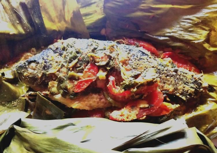 Cara membuat Hot Pepes ikan mas enak
