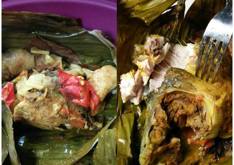 Resep: Pepes ayam kampung & ikan mas sesukanya lezat