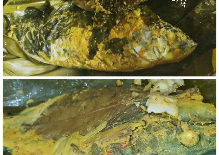 Resep: Pepes ikan mas tulang lunak lezat