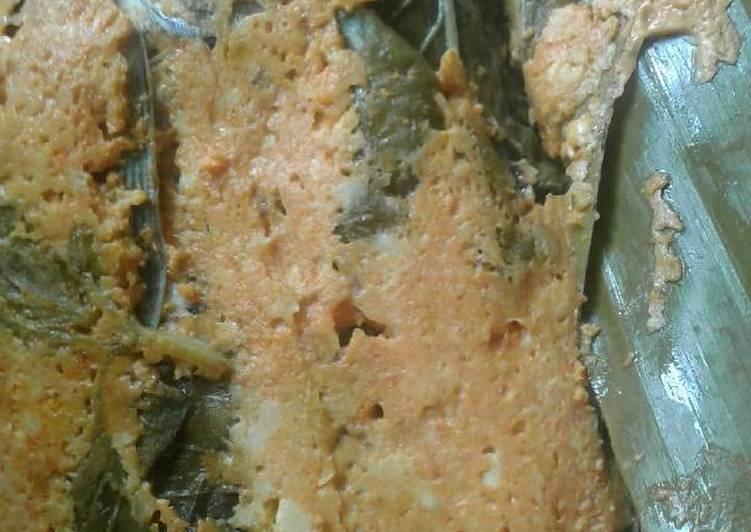 Resep: Pepes ikan mas balut tahu telur