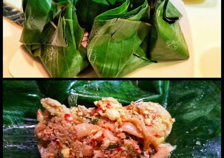 Resep: Pepes jamur, tahu dan daging cincang yang bikin ketagihan