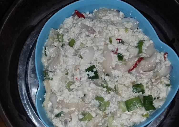 Cara memasak Pepes jamur tahu putih yang menggugah selera