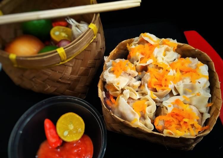Resep: Dimsum Ayam (kulit pangsit lembut no kering)