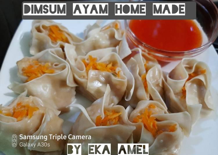 Cara Mudah membuat Dimsum ayam praktis lapis kulit pangsit dgn Saus dimsum homemade enak