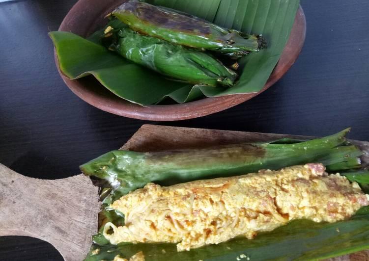 Resep: Pepes Jamur enoki Bumbu kuning yang menggugah selera