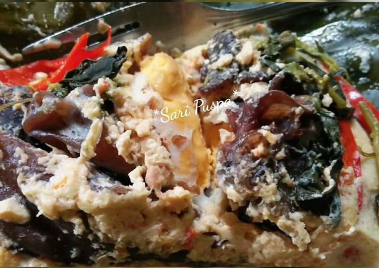 Resep: Botok/pepes telur asin + jamur ala resto