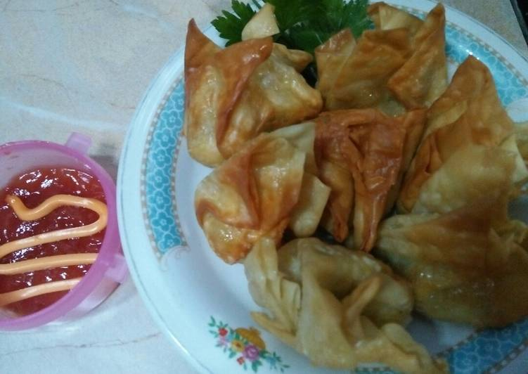 Resep: Dimsum goreng kulit pangsit🌺 so simple lezat