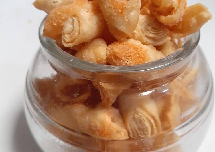 Resep: Kulit pangsit goreng bbq yang bikin ketagihan
