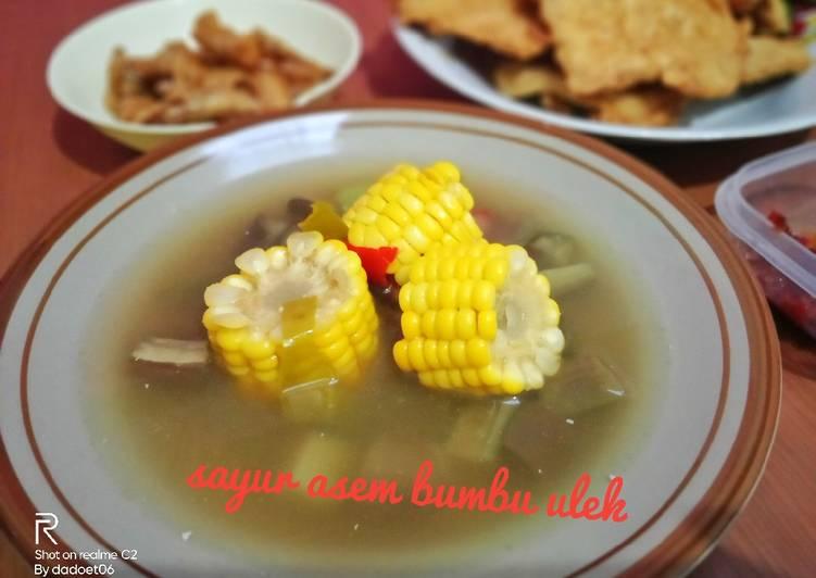 Resep: Sayur asem bumbu ulek lezat