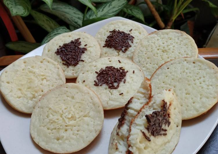 Resep: Serabi nasi lembut menul yang menggugah selera