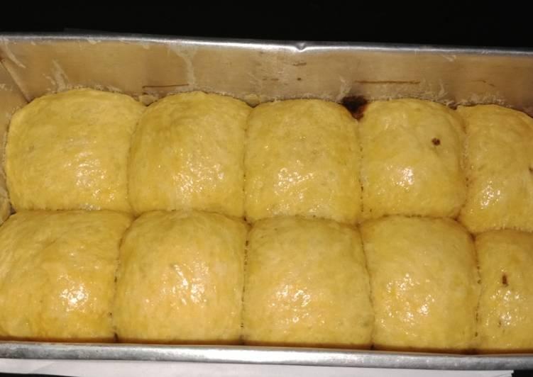 Cara mengolah Roti sobek ubi bakar cilembu istimewa