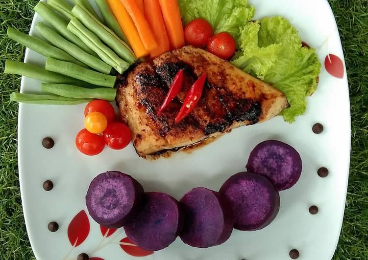 Cara Mudah mengolah Steak Kakap Ubi Ungu yang bikin ketagihan
