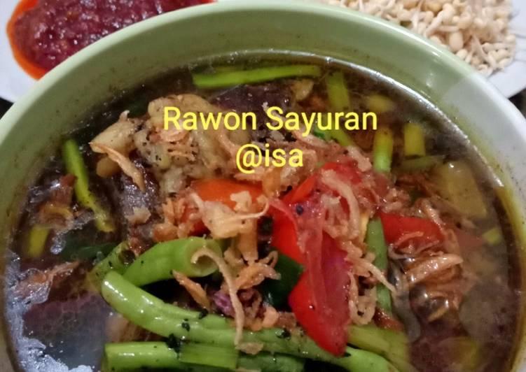 Resep: #101 Rawon Sayuran yang menggugah selera