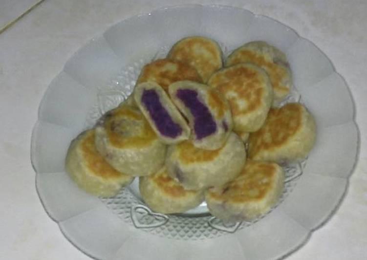 Resep: Bakpia ubi ungu sederhana