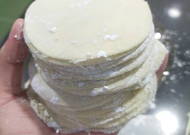 Resep: Kulit pangsit / dumpling Homemade Tanpa alat ala resto