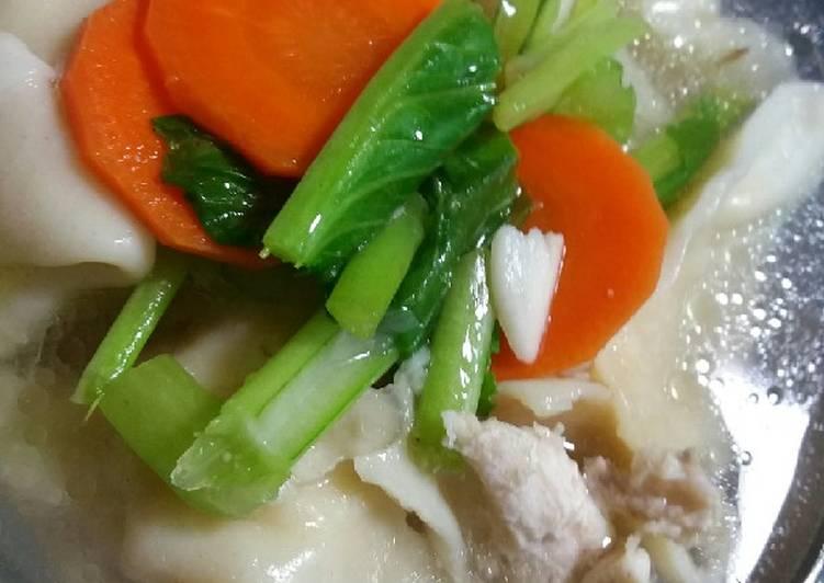 Cara Mudah membuat Pangsit udang ayam kuah yang menggugah selera
