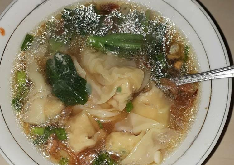 Resep memasak Pangsit rebus ayam yang menggoyang lidah