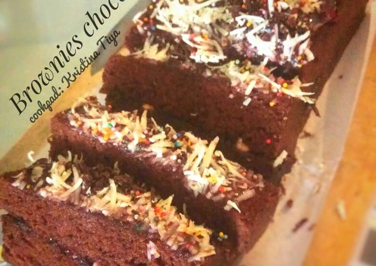 Resep: Brownies chocolatos kukus nan lembut sedap