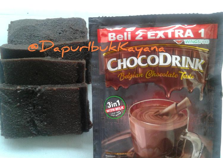 41 Brownies 'Chocodrink' Kukus No Terigu No Timbangan No Mixer