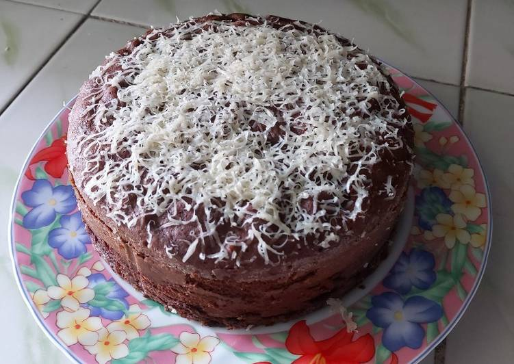 Resep: Brownies keju kukus sederhana lezat