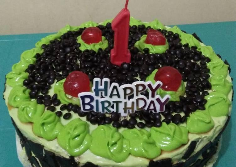 Resep: Kue ulang tahun (brownies kukus) takaran sendok ala resto